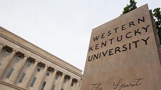Western Kentucky University sign outside